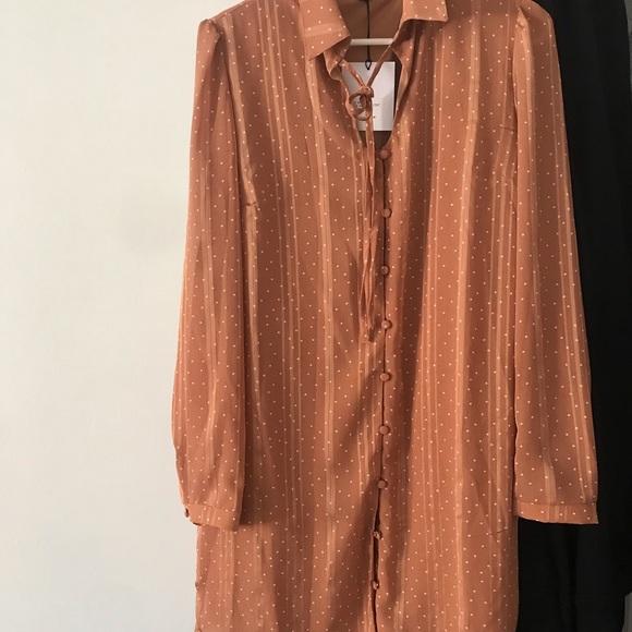 Dusty Peach Shirt Dress
